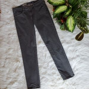 AG ADRIANO GOLDSCHMIED Gray Washed Denim Jeans